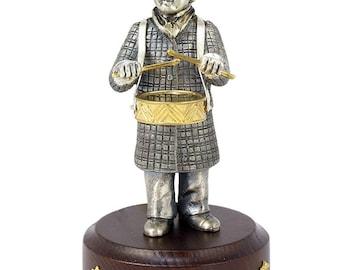 """Silver Statuette """"The Drummer"""""""