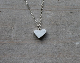 Heart fine silver charm