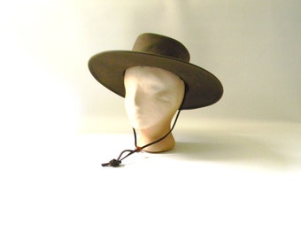 Vintage Wide  Rimmed Australian Hat
