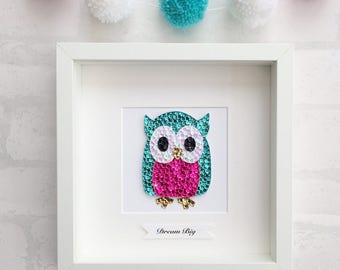 Owl wall art, dream big, nursery decor, owl decor, girls nursery art, girls room decor, owl picture