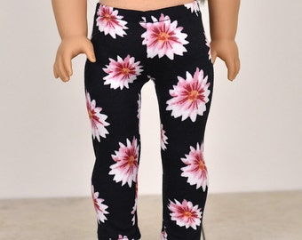 Leggings for 18 inch dolls Doll clothing American made doll clothes Pink Floral