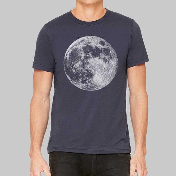 Mens full moon shirts silk screen t shirt made by for Silk screen tee shirts online