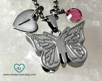 Cremation jewelry, Butterfly cremation pendant, Cremation necklace, Cremation butterfly, Memorial Urn, Butterfly urn, Keepsake necklace