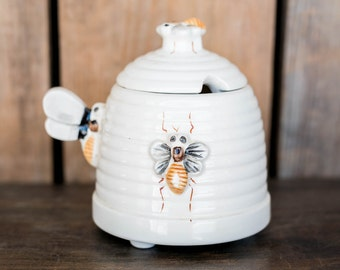 Vintage Beehive Honey Pot