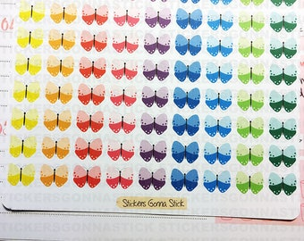 117 Colorful Butterfly Stickers | Ideal for planners, calendars, journals, scrapbooks and more