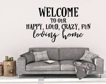 Wall Decals For Home welcome wall decal | etsy