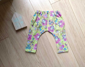Ethnic pants for baby 6-9 months, green leggings 6 months, baby harem pants 7 months, baby leggings 8 months, green pants baby 9 months
