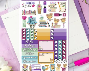 Book Lover Avia's Corner Planner Stickers