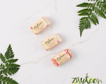 Floral Mini Soap Sampler -- Try 3 mini soaps 2oz each -- Geranium Palmarosa, Jasmine and Musk Flower