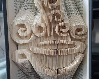 Coffee Cup - Folded Book Art Pattern - Combination Fold - Instant Download!