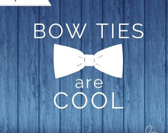 Bowties are cool, Doctor Who Decal, Bow Ties Are Cool Decal, Doctor Who Bow Ties, Eleventh Doctor, yeti decal, bowties are cool decal