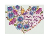 Love Grows Here - Durene J Cross Stitch Pattern