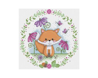 Mr. Fox - Durene J Cross Stitch Pattern