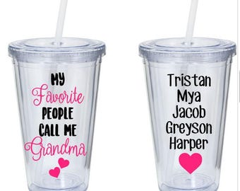 My Favorite People Call Me Grandma - Custom Grandma Gift - Custom Mother Gift - Mother's Day Gifts - Gifts For Her