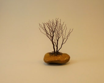 Wire Bonsai tree group - Miniature Winter Broom style