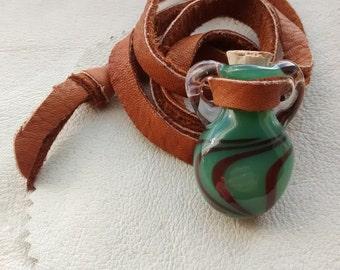 Glass potion bottle etsy for Pill bottle jewelry
