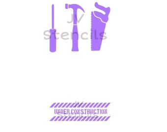 Construction Theme Stencil-Tools