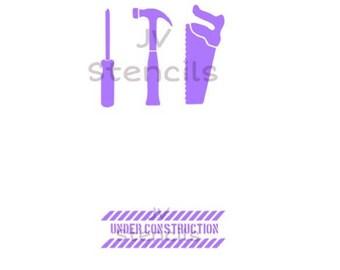 Construction Theme Stencil-Tools