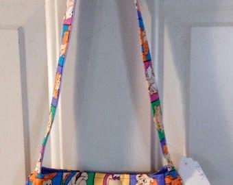 Ladies Purse Small Shoulder Bag Handbag Pocketbook FLINTSTONES print SB52