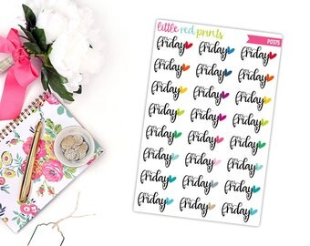 It's Friday Planner Stickers  for the Erin Condren Life Planner, TGIF Planner Stickers, Friday Sticker, TGIF Planner Sticker - [P0375]