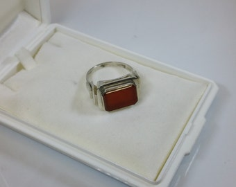 19.2 mm elegant ring silver 900 carnelian SR130