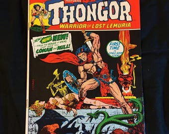 "Jim Steranko Autographed Creatures On The Loose #22 Marvel Comics Thongor ""To David"" 1973 VG"
