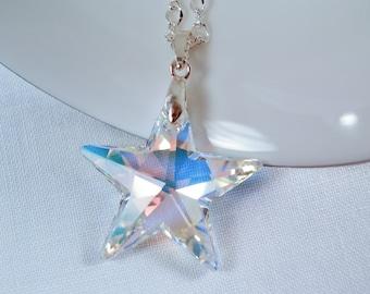 Swarovski Crystal Star Necklace