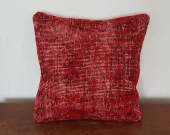Red pillow cover home decor cushions 18x18 rug pillow covers, red kilim pillow cases