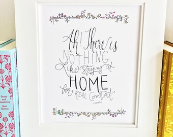 Jane Austen print - quote - wall art - literary -QCE