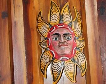 Mexican Folk Sun Face Mask