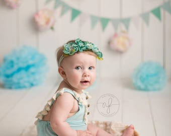 Cake smash girl outfit, Baby Girl Romper, Blue baby romper, sitter romper, Baby Romper, Newborn Romper, baby overalls, baby girl overalls