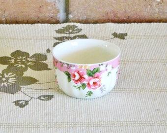Robert Gordon Liberty mini porcelain bowl, finger bowl, vinegar bowl, dip bowl; floral design, mid 1990s, gift idea