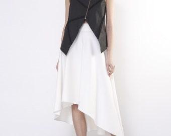 Short gilet / Black short gilet / Minimalistic gilet / Black short vest / Short vest / Short vest with zipper / Classic gilet