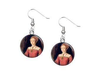 Queen Elizabeth I, Elizabeth Tudor, 12mm Dangle Earrings, Fish Hook Earrings, Henry VIII, Tudor Era, British History