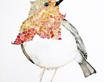Large Robin Original Watercolor, Bird Art Decor, Red Robin Watercolor, Nature Prints, Robins, Robin Artwork, Pretty Robin, Robin Painting