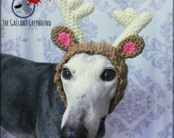 Reindeer Antlers Snood for Greyhounds