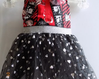 Betty Boop Dog Dress//Valentine's Day//Dog Clothing//Dresses for Dogs//Dog Accessories//Yorkie Clothing//Chihuahua Clothing
