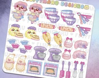 Bakery Deco Sticker Set    Planner Stickers, Cute Stickers for Erin Condren (ECLP), Filofax, Kikki K, Etc.    DS03