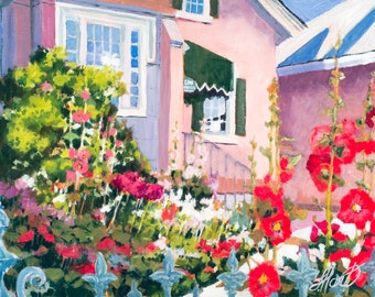 Spring House Painting, Spring Flowers Painting, Lion House Painting, Lion House, Utah Art