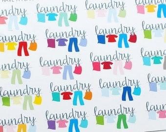 Planner Stickers Laundry Line for Erin Condren, Happy Planner, Filofax, Scrapbooking