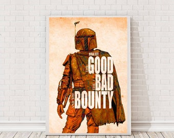 Star Wars Boba Fett Retro Poster Art Film Poster Movie Poster