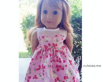 18 inch doll clothes - Sweetheart Dress on Pink
