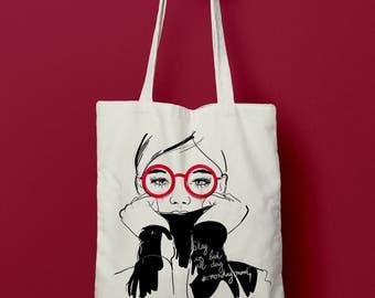 Tote bag Mood of monday canvas bag bag 100% cotton, bag sport, bag shopping, bag shopping bag, shopping bag, change bag, October 13