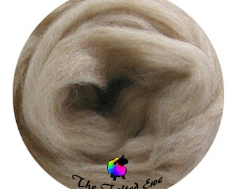 Needle Felting Wool Roving / ES12 Island Sands Carded Wool Sliver