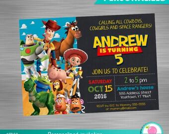 Toy Story Invitation DIY, Toy Story, Toy Story Printable Invitation, Toy Story Digital Invitation, Toy Story Party, Toy Story Birthday