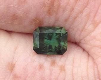 2.9 CT unheated Australian sapphire 8.5x7x5 mm green