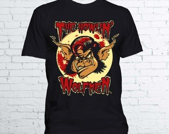 Howlin' Wolfmen T Shirt - Halloween Wolfman Werewolf Wolf Universal Monsters Horror Shirt - Available in Mens and Ladies Fit
