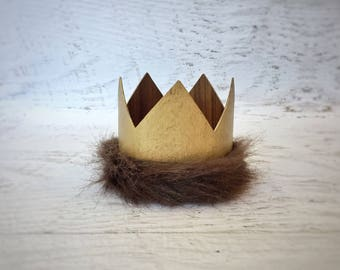 Where The Wild Things Are Party Supplies, Max Crown, Gold Crown, Wild Things Birthday, Wild Things Party, First Birthday Crown, Wild One