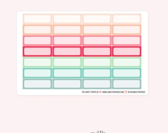 Quarter Box Planner Stickers for Weekly View | DREAM BIG