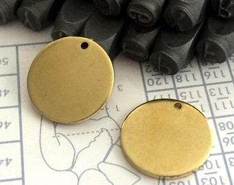 20 mm 15 Gauge (1.5mm) thickness 10 pcs stamping Round blank,tag,disc,findigs,sealing,pressing Raw Brass